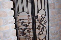 Wrought iron garden gate embellishments