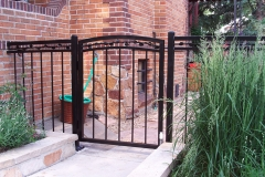 Custom Black Small Iron Gate with scroll work embellishments