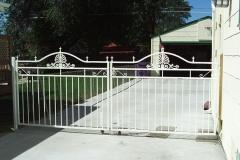 Artistic Wrought Iron Gate - White
