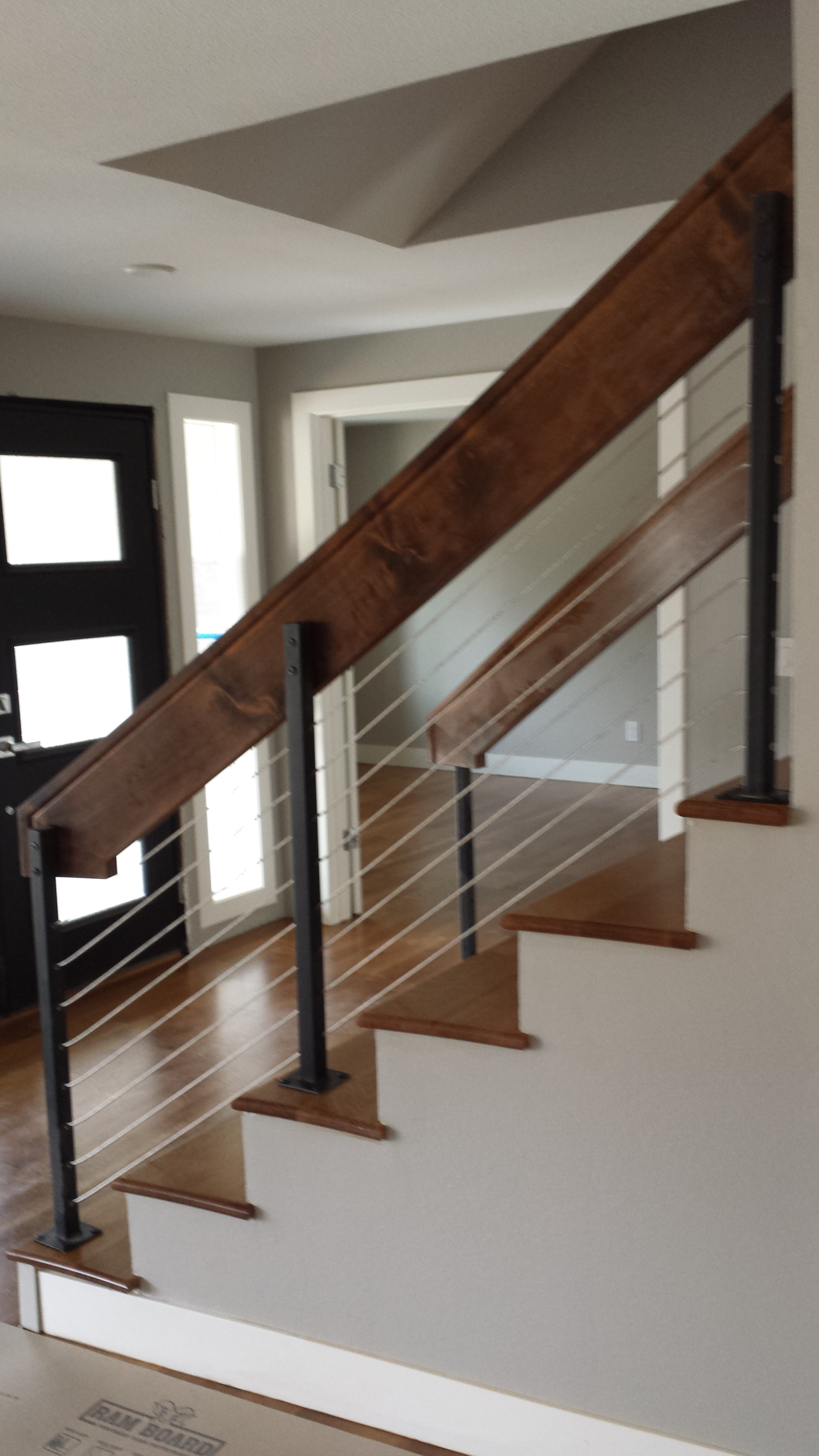 joy railing design handrails mounted on wood l studio car interior stair half wall