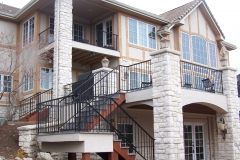 metal handrails for exterior stairs