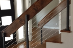 Cable Railing interior staircase