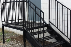 Handrails exterior with steps