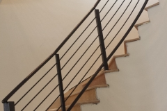 Spiral Iron Rails staircase