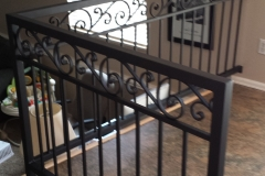 Horizontal Iron Rails with scrollwork