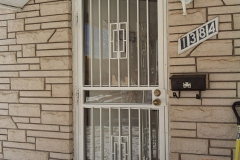 Wrought Iron Security Door with Bars