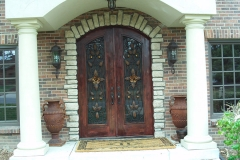 Ornamental Iron Entry Door