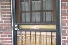metal security storm door