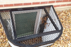 Wrought Iron Custom Window Well Cover - Black