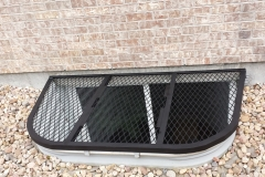 Ornamental Iron Window Well grate